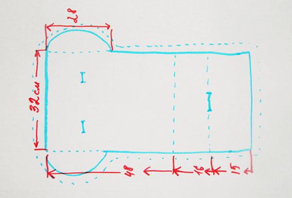 Примерное лекало для матраса в коляску